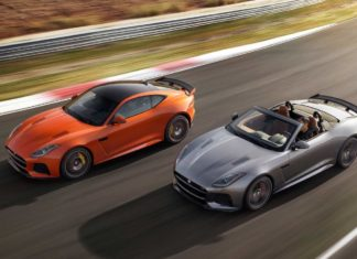 2017 jaguar f-type svr convertible and coupe rolling shot