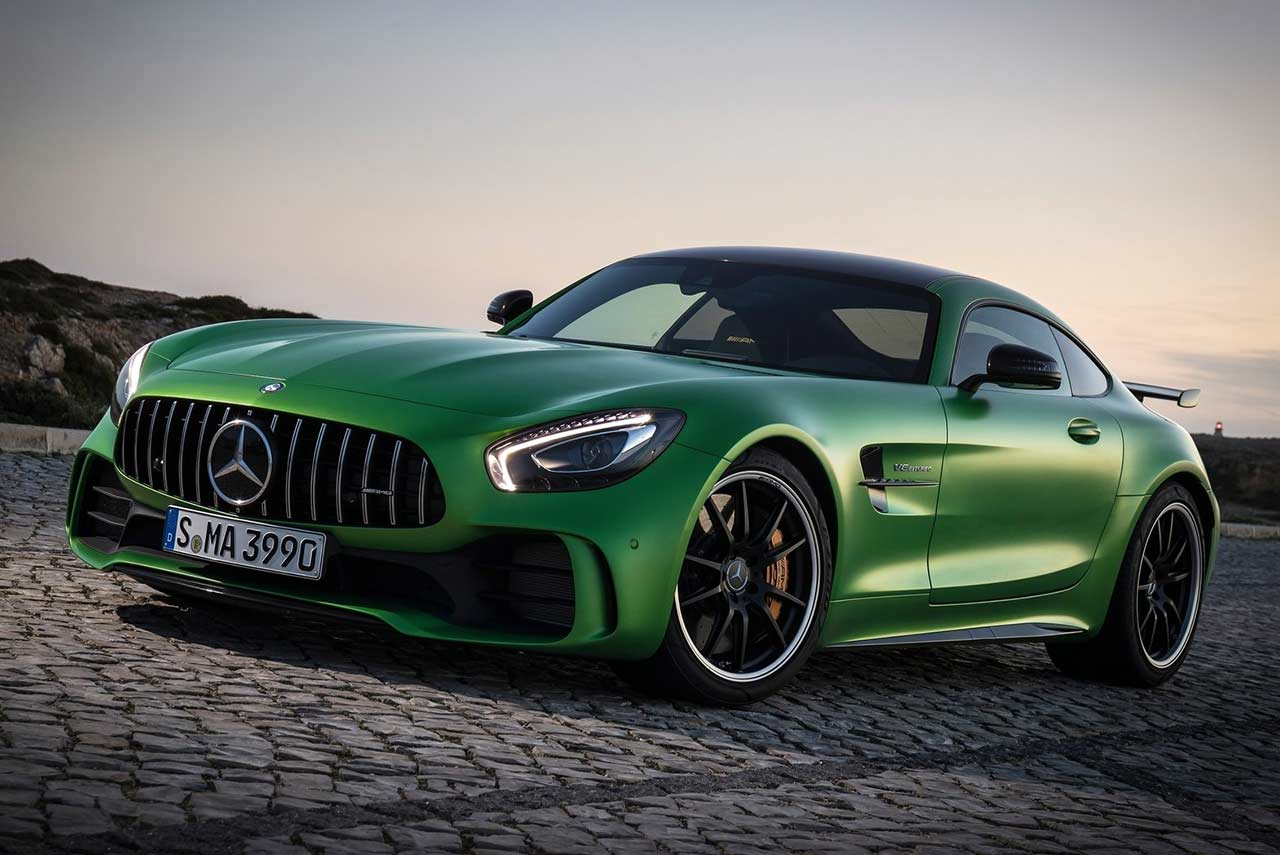 2017 mercedes benz amg gt r front quarter autobics for How long does it take to build a mercedes benz