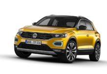 2017 volkswagen t-roc curcuma yellow metallic front studio