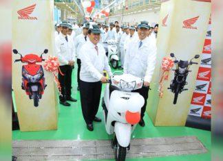 honda 2 wheeler karnataka assembly line biggest plant in world