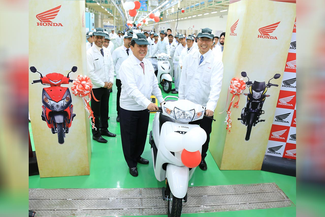 honda 2 wheeler karnataka assembly line biggest plant in world