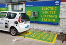mahindra e20 charged at tata power electric vehicle charging station in vikhroli