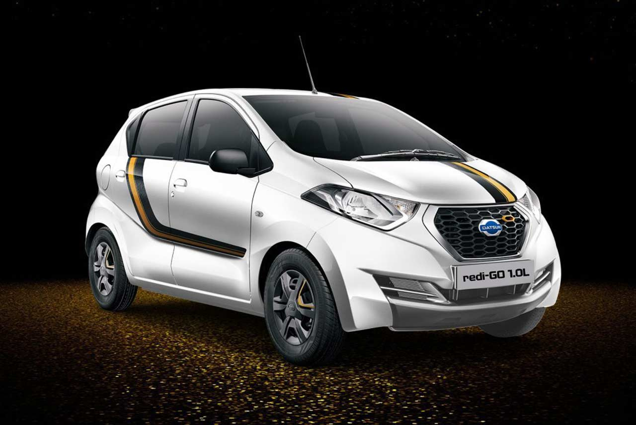 Limited Edition Datsun Redi Go Gold 1 0l Launched In India