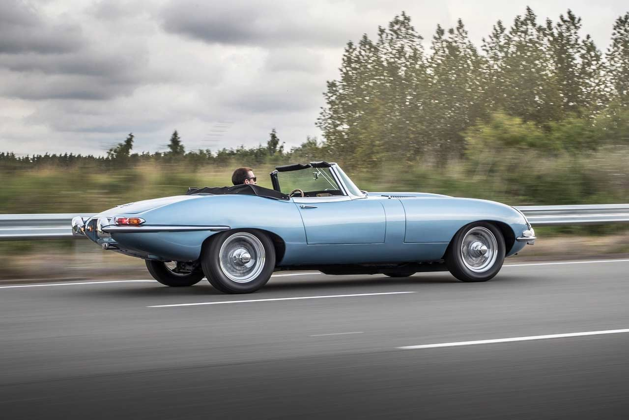 2017 jaguar e-type zero concept roadster london
