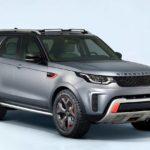 2017 land rover discovery svx front quarter