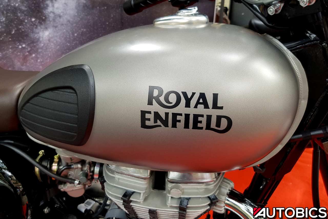 2017 Royal Enfeild Classic 350 Gun Metal Grey Fuel Tank Mumbai Autobics