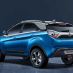 2017 tata nexon rear quarter moroccan blue studio