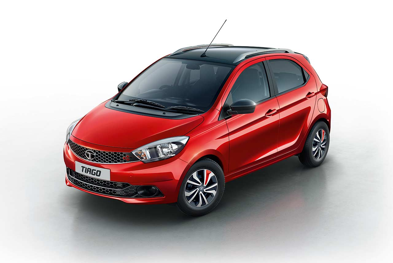 2017 tata tiago wizz berry red launched price in India