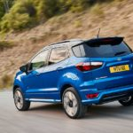 2018 ford ecosport st-line lightning blue rear quarter rolling