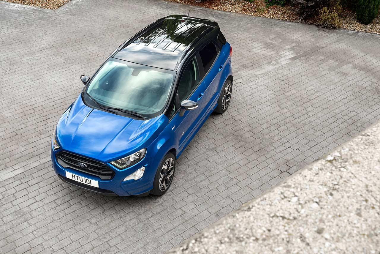2018 ford ecosport st line lightning blue top autobics. Black Bedroom Furniture Sets. Home Design Ideas