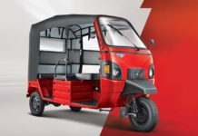 mahindra e-alfa mini electric rickshaw front quarter