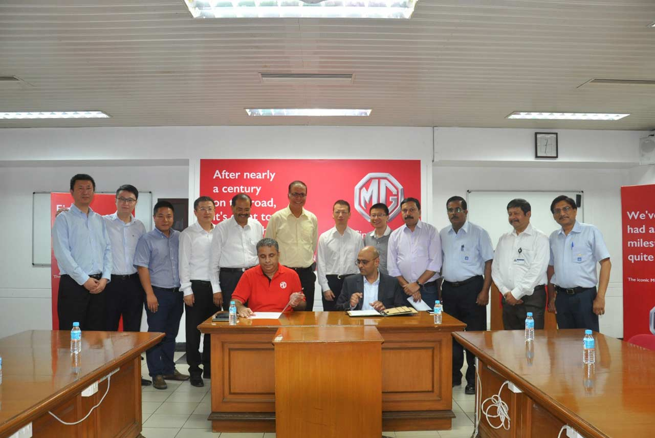 mg motor india official takeover ceremony