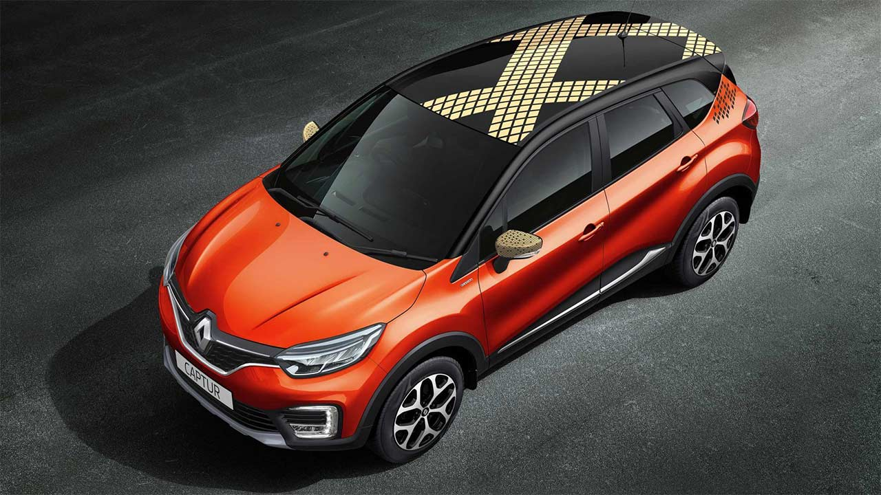 renault captur unveiled for india pre bookings open. Black Bedroom Furniture Sets. Home Design Ideas