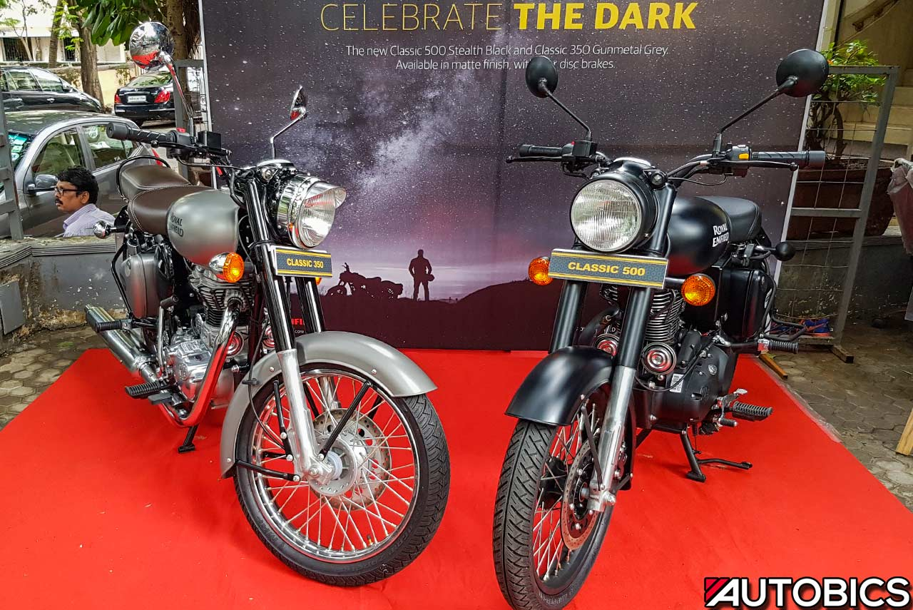 royal enfield classic gunmetal grey and stealth black