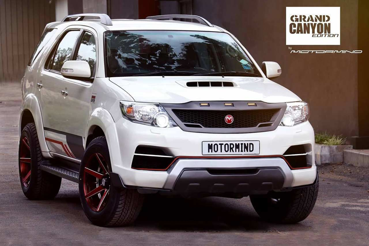modified toyota fortuner grand canyon edition by motormind