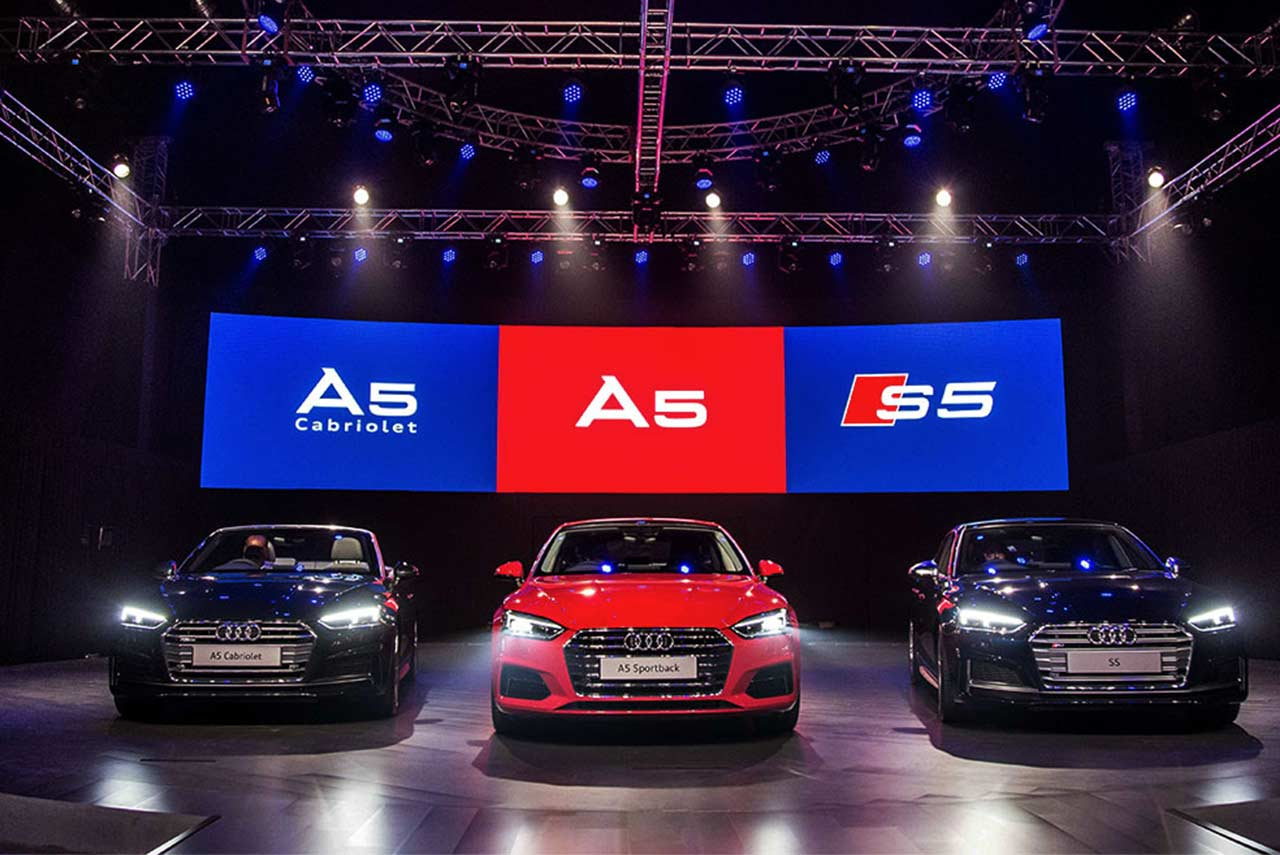 Audi A5 Sportback, 2017 Audi A5 Cabriolet and 2017 Audi S5 Sportback Launched in India price