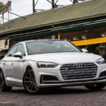 2017 audi s5 sportback white front quarter pr