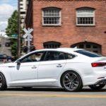 2017 audi s5 sportback white rear quarter pr