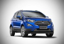 2017 ford ecosport india kinectic blue front quarter pr