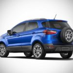 2017 ford ecosport india kinectic blue rear left pr
