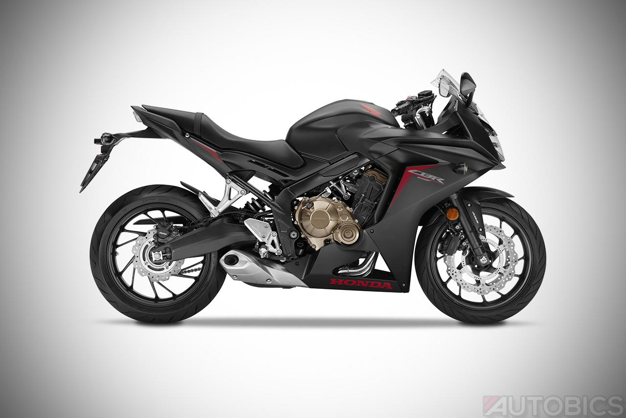2017 honda cbr650f Gunpowder Black Metallic studio side
