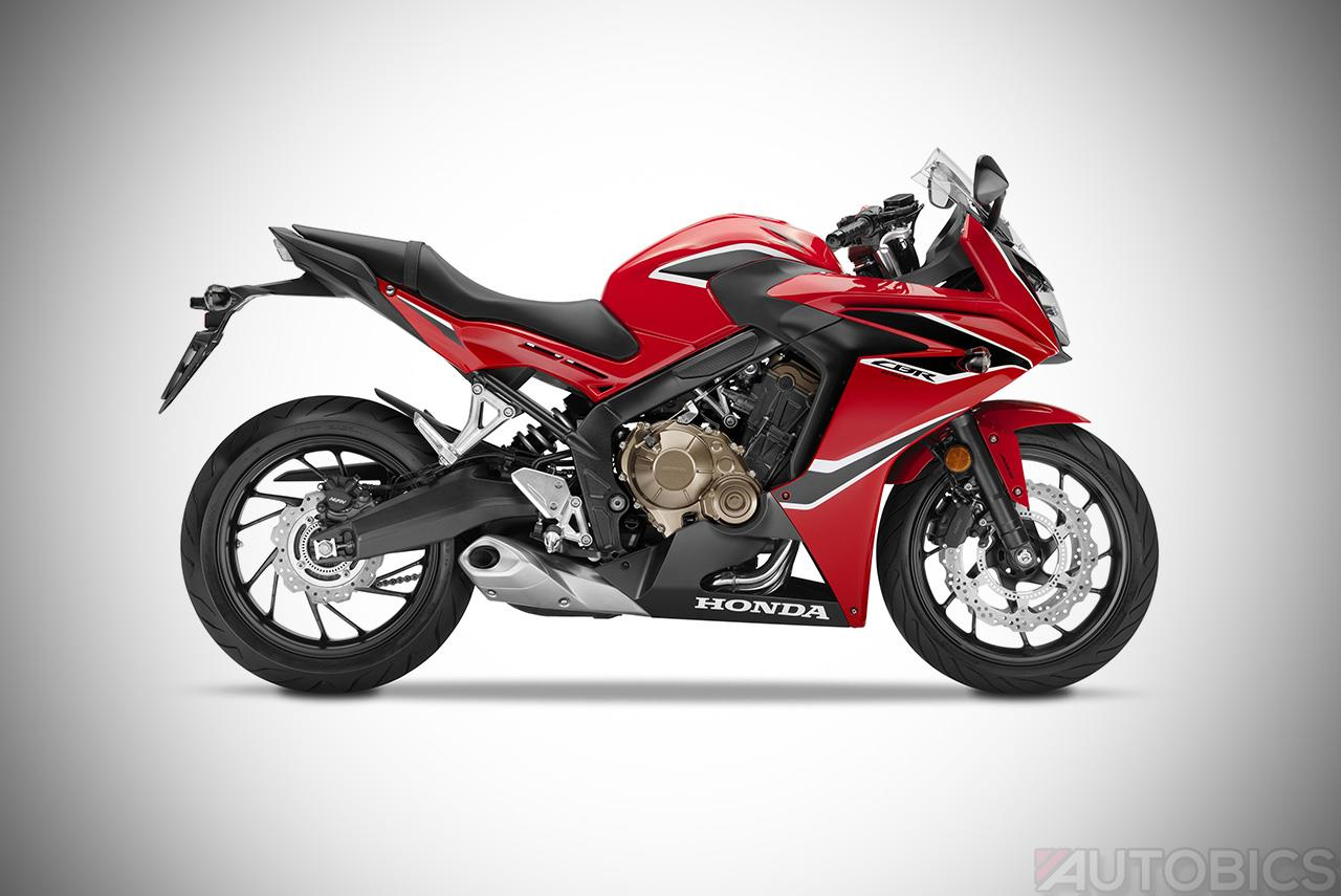 2017 honda cbr650f millennium red left studio