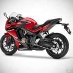 2017 honda cbr650f millennium red rear left studio