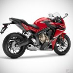 2017 honda cbr650f millennium red rear right studio