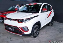2017 mahindra kuv 100 nxt accessories white front left