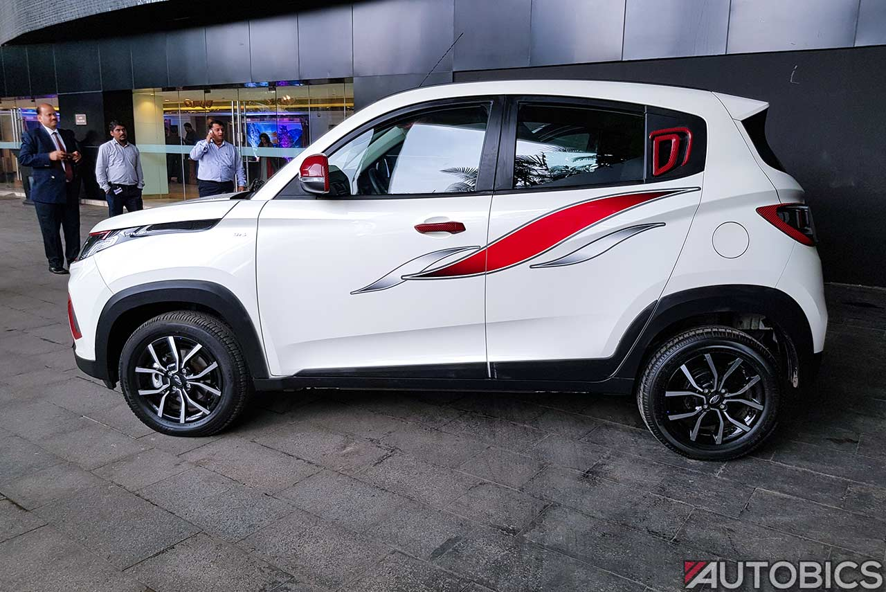 2017 Mahindra Kuv 100 Nxt Accessories White Side Graphics