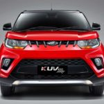 2017 mahindra kuv100 nxt red and black front pr