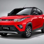 2017 mahindra kuv100 nxt red and black front quarter pr