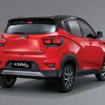 2017 mahindra kuv100 nxt red and black rear quarter pr