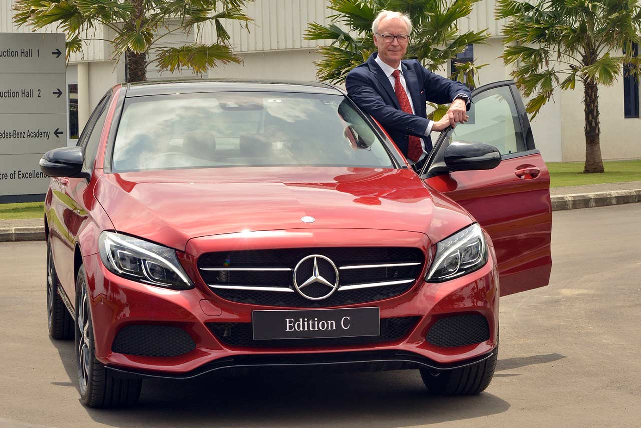 2017 mercedes-benz c-class edition c in hyacinth red colour