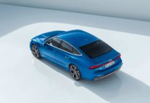2018 audi a7 sportback blue rear top pr