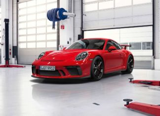 2018 porsche 911 gt3 red front quarter pr