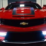 chevrolet cruze modified into red camaro motormind front low