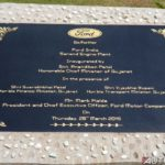ford sanand plant inauguration stone