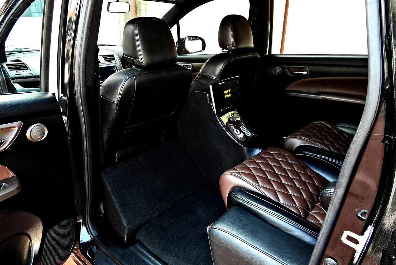 maruti suzuki ertiga modified kit up rear interior | AUTOBICS