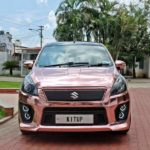 maruti suzuki ertiga modified kitup rose gold wrap rear front