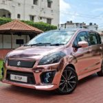 maruti suzuki ertiga modified kitup rose gold wrap rear front quarter