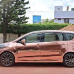 maruti suzuki ertiga modified kitup rose gold wrap rear side