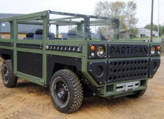 partisan one military vehicle front quarter pr