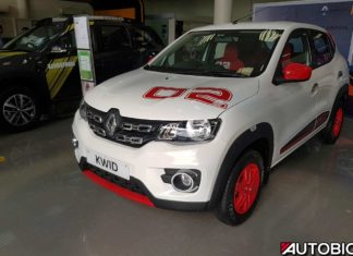renault kwid 2nd anniversary edition ice cool white front left