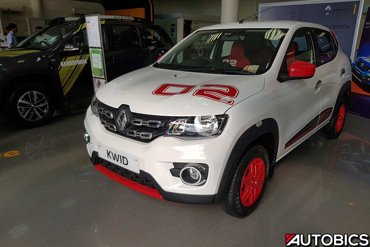 Renault New 7 Seater Car In India >> renault kwid 2nd anniversary edition ice cool white front left | AUTOBICS