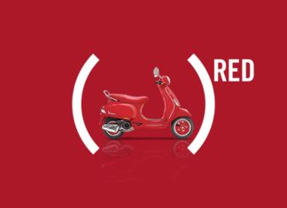 vespa red india pr