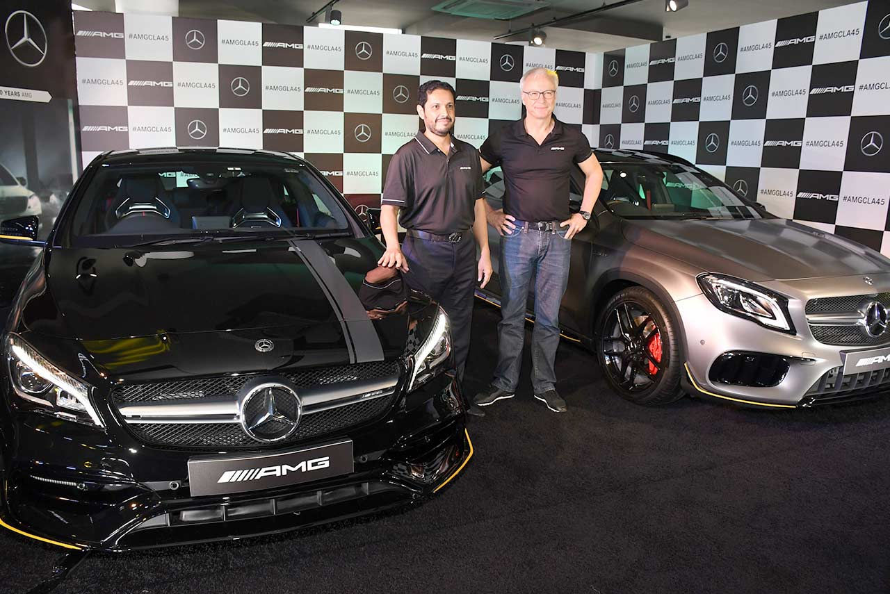 2017 mercedes-amg cla 45 4matic and mercedes-amg gla 45 4matic