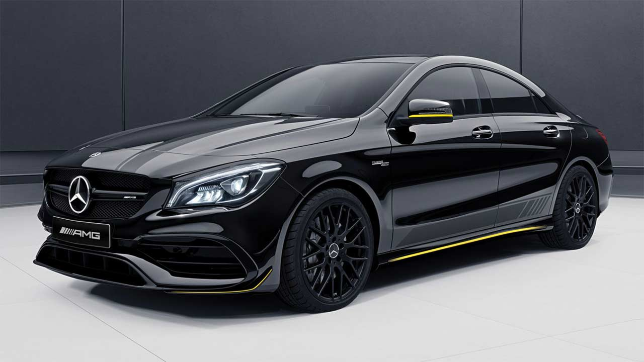 2017 mercedes amg cla 45 aero edition autobics. Black Bedroom Furniture Sets. Home Design Ideas