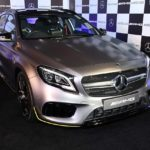 2017 mercedes-amg gla 45 4matic aero edition in designo magno paint finish
