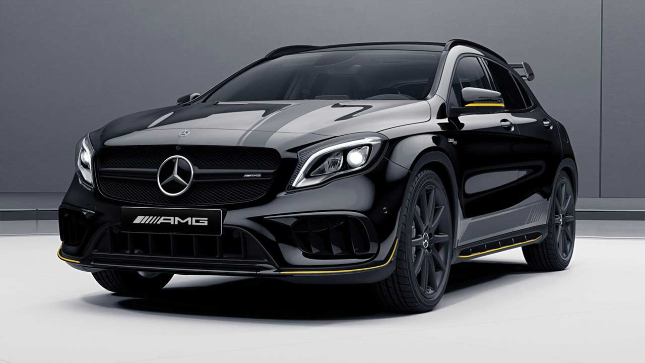 mercedes amg cla 45 and mercedes amg gla 45 4matic launched in india autobics. Black Bedroom Furniture Sets. Home Design Ideas